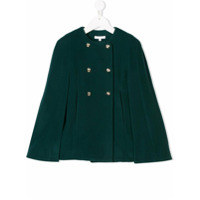 Chlo Kids double-breasted cape - Green