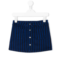 Knot striped skirt - Blue