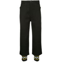 Geym zig zag cuff trousers - Black