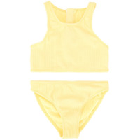 Duskii Girl Amelie zip bikini set - Yellow