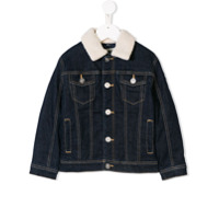 Kenzo Kids logo patch denim jacket - Blue