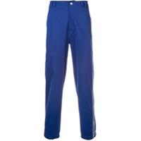 Givenchy logo stripe trousers - Blue