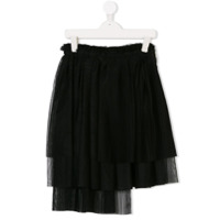 Msgm Kids tiered skirt - Black