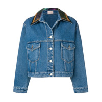 Christopher Kane chainmail denim jacket - Blue