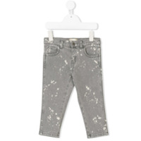 Gucci Kids splattered bleached jeans - Grey
