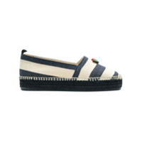 Castaer striped espadrilles - Blue
