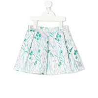 Hucklebones London pleated floral skirt - White