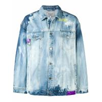 Icosae acid wash denim jacket - Blue