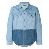 Paura colour block denim jacket - Blue