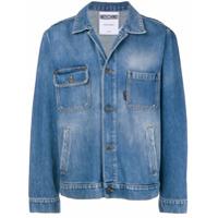 Moschino asymmetrical pocket denim jacket - Blue