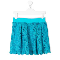 Alberta Ferretti Kids lace skirt - Blue