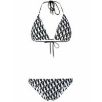 Polo Ralph Lauren logo print bikini set - Black