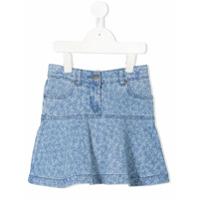 Stella Mccartney Kids star print denim skirt - Blue