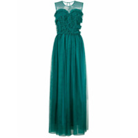 P.A.R.O.S.H. frill tulle maxi dress - Blue