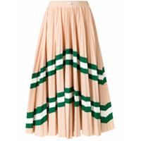 Valentino VLTN patterned pleated midi skirt - Neutrals