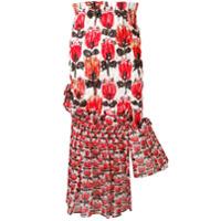 Tsumori Chisato asymmetric high-waisted skirt - Red