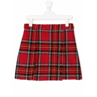 Oscar De La Renta Kids plaid a-line skirt - Red