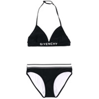 Givenchy Kids TEEN logo band bikini - Black
