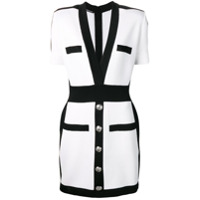 Balmain short button dress - White