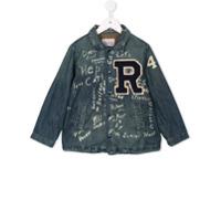 Denim Dungaree patch jacket - Blue
