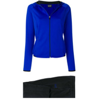 Ea7 Emporio Armani zip-up hooded tracksuit - Blue