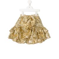 Little Bambah ruffled skirt - Gold