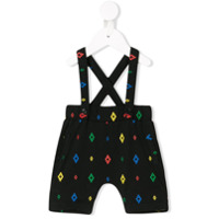 Marcelo Burlon County Of Milan Kids logo print dungarees - Black