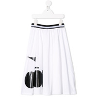 Diadora Junior printed logo flared skirt - White