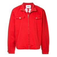 MSGM high neck denim jacket - Red
