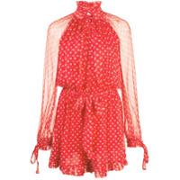 Zimmermann dotty playsuit - Red
