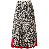 Nº21 leopard-print pleated skirt - Neutrals
