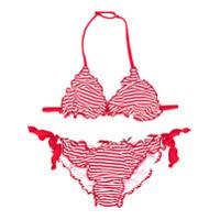 Mc2 Saint Barth Kids TEEN striped bikini set - Red