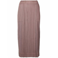 Pleats Please By Issey Miyake pleated wrap skirt - Brown