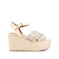 Missoni wedged espadrille sandals - Neutrals
