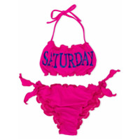 Alberta Ferretti Kids Saturday print bikini - Pink