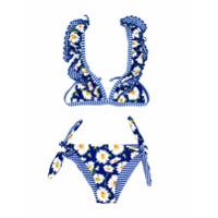 Monnalisa floral two-piece bikini set - Blue