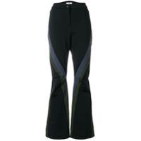 Fendi flared colour-block trousers - Black