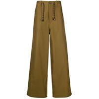 Marni drawstring wide-leg trousers - Green
