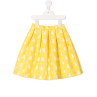 Charabia cat pattern skirt - Yellow