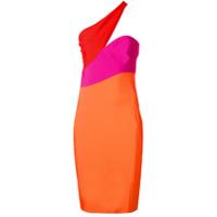 Mugler asymmetric neck dress - Multicolour