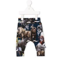 Molo animal print sweatpants - Grey