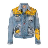Mjb painted denim jacket - Blue