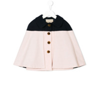 Hucklebones London colour block buttoned cape - Pink