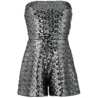 Alexis strapless playsuit - Silver