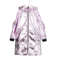 Andorine long metallic cape - Pink
