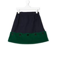 Owa Yurika colour block button skirt - Blue