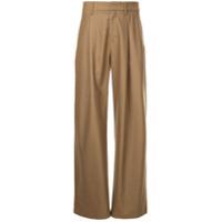 Kazuyuki Kumagai wide-leg trousers - Brown