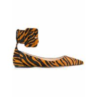 Attico zebra print ballerinas - Brown