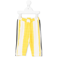 No & Zoe striped knitted leggings - Yellow