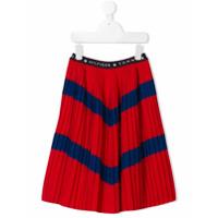 Tommy Hilfiger Junior chevron stripe pleated skirt - Red